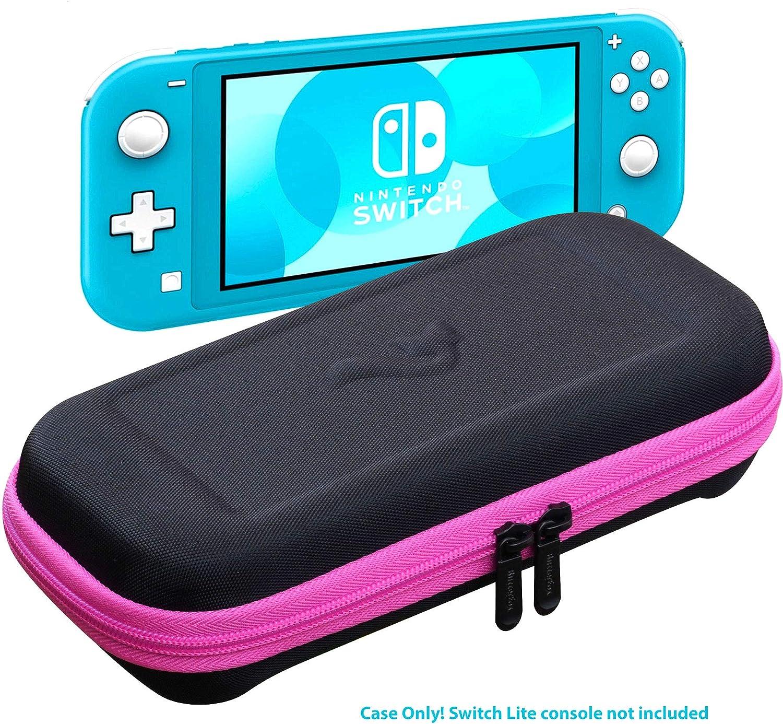 ButterFox Switch Lite - Funda de Transporte para Nintendo Switch Lite con 19 Juegos y 2 Soportes para Tarjetas Micro SD, Color Rosa y Negro: Amazon.es: Informática