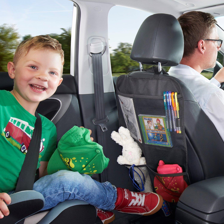 Systemoto Sitzschoner Bundle R/ückenlehnentasche Kinder und Unterlage Kindersitz Kindersitzunterlage R/ücksitz Organizer Auto