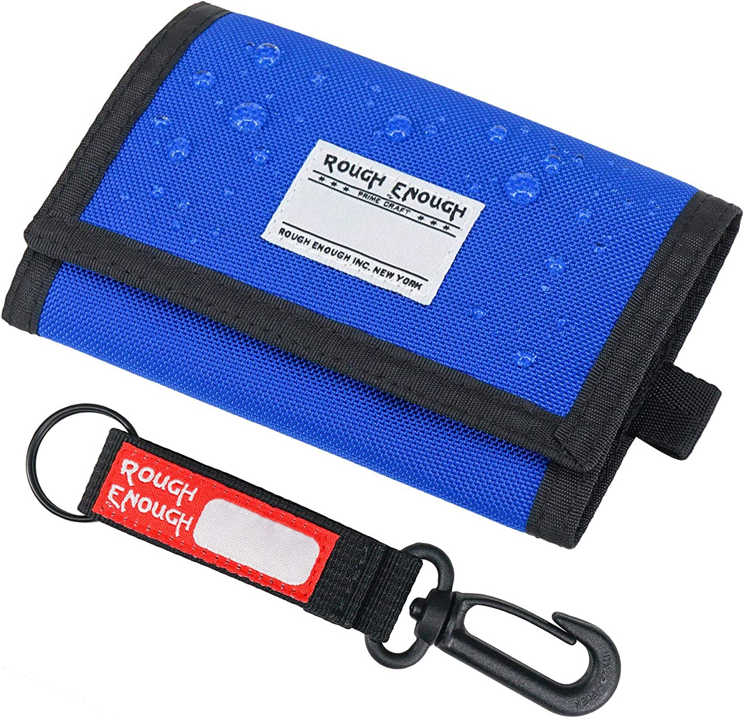 Rough Enough Blue Kids Wallets for Teen Boys with Keychain Gifts
