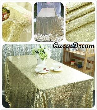 Etonnant QueenDream 60u0026quot;x102u0026quot; Light Gold Tablecloth Sequin Tablecloth Party  Decoration Tablecloth
