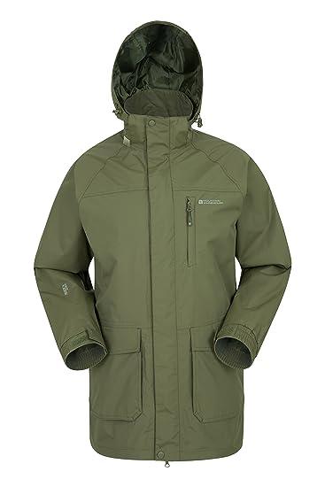 Mountain Warehouse Glacier II Long Mens Waterproof Jacket - Taped Seams Rain  Coat 60cfcbe6c4a