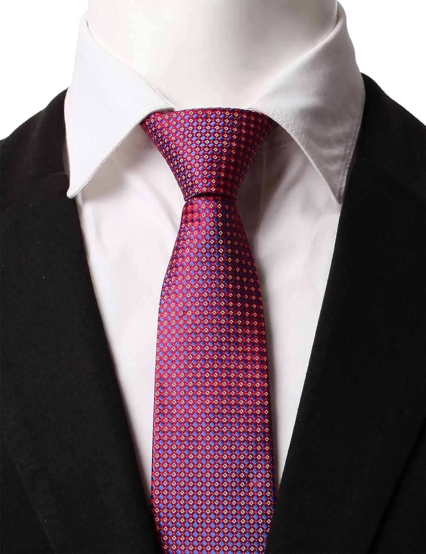 H2H Mens Comfortable Zipper Neck Tie Of Various Unique Dot Patterned