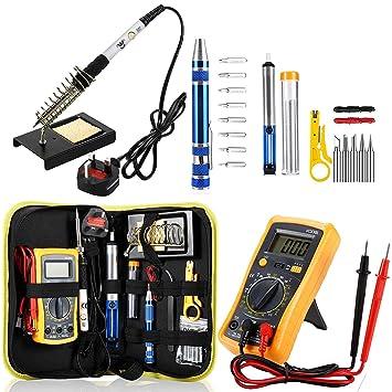 Kit de soldadura de hierro de Magneto, kit de pistola de soldadura actualizada, mejor para electricidad, joyas y trabajo ...