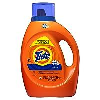 Tide Laundry Detergent Liquid, Original Scent, HE Turbo Clean, 64 Loads