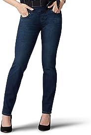 Lee Womens Petite Sculpting Slim Fit Slim Leg Pull on Jean Jeans