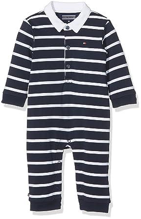 565b92049 Tommy Hilfiger Big Stripe Baby BOY Coverall L/S Footies, Blue (Navy Blazer  431), 74: Amazon.co.uk: Clothing