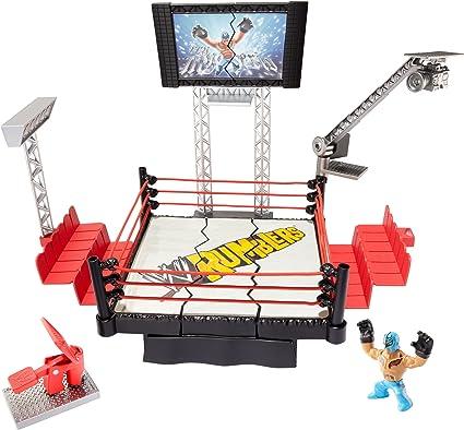 Amazon Com Wwe Rumblers Rampage Devastadium Playset Toys Games