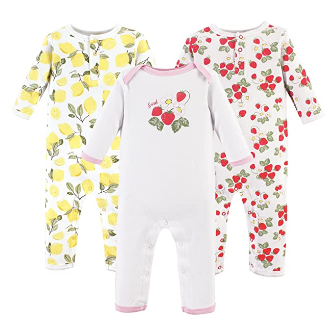 Hudson Baby Baby Cotton Union Suit, 3 Pack, fruit, 12 Months best infant pajamas