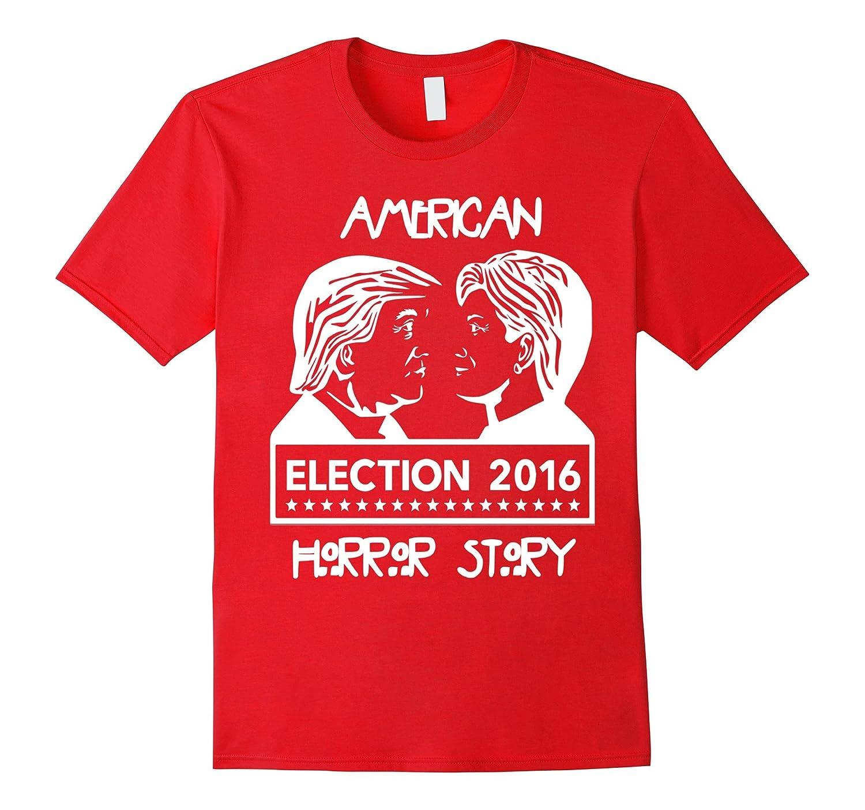 American Hor-ror Donald Trump Hillary Clinton Funny T Shirt-BN