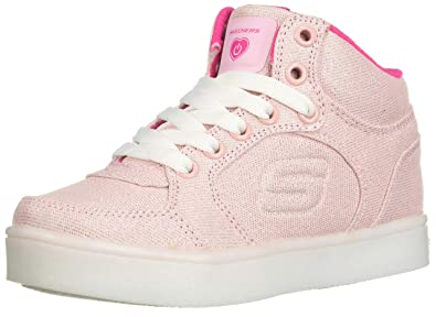 6400fc1d7064 Skechers Kids Womens Energy Lights 10939L (Little Kid Big Kid) Denim Pink