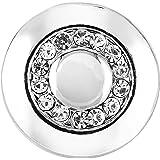 Morella® Damen SMALL Click-Button Druckknopf 12 mm Ø Kreis silberfarben