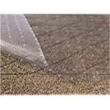 Sterling Brands Clear Vinyl Plastic Floor Runner/Protector for Low Pile Carpet - Non-Skid Decorative Pattern, (27 Inches Wide x 6 Feet Long)