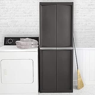 product image for Sterilite 01423V01 4 Shelf Cabinet, Flat Gray, 1-Pack