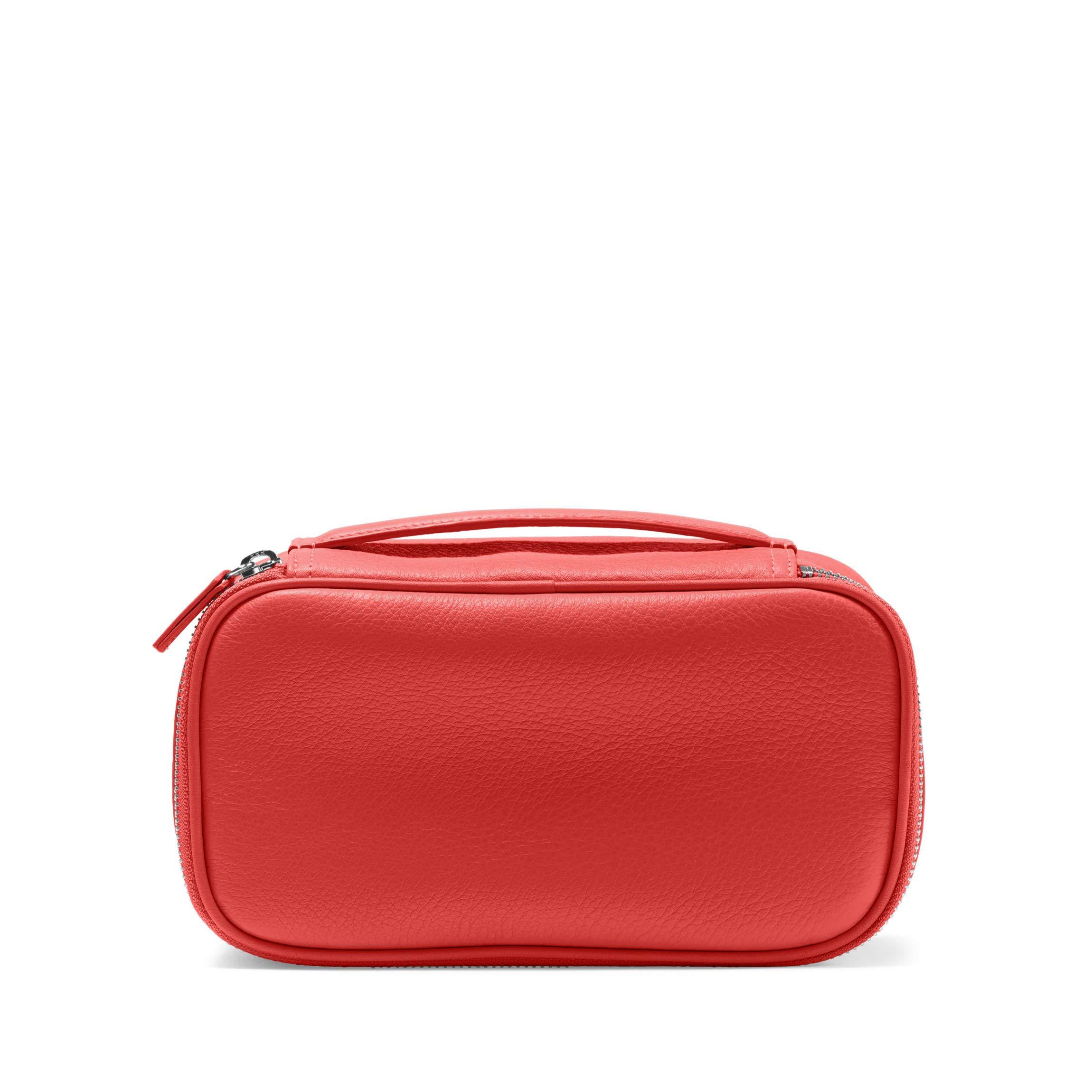 Leatherology Medium Travel Organizer - Full Grain Leather Leather - Scarlet (red)
