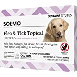 Amazon Brand - Solimo Flea and Tick Topical Treatment for Dogs, For Large Dogs (45-88 pounds)