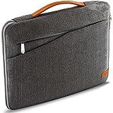 """deleyCON Funda de protección para notebooks y Ordenadores portátiles de 17,3"""" Pulgadas (43,94cm) Nylon + 2 Bolsillos para Accesorios - Gris"""