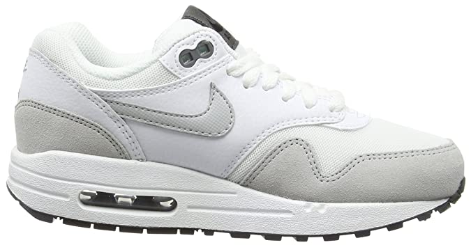 Details about NIKE AIR MAX 1 ESSENTIAL White Grey Mist Dark Grey Trainers 599820 111 Size 2.5