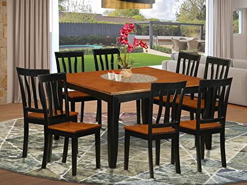 9 Pc Dining room set-Dining Table and 8 Wood Dining Chairs