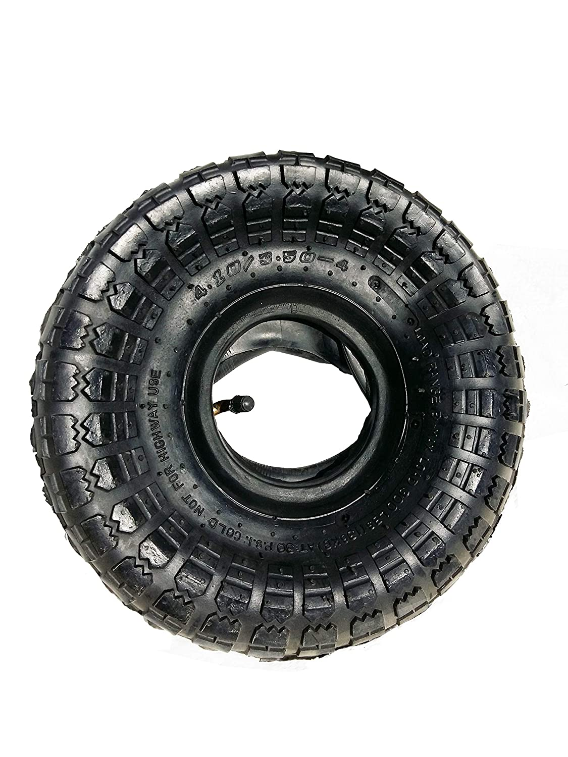 4.10/3.50-4 Tire and Tube Set for Wheelbarrow and Hand Truck Wheels 10