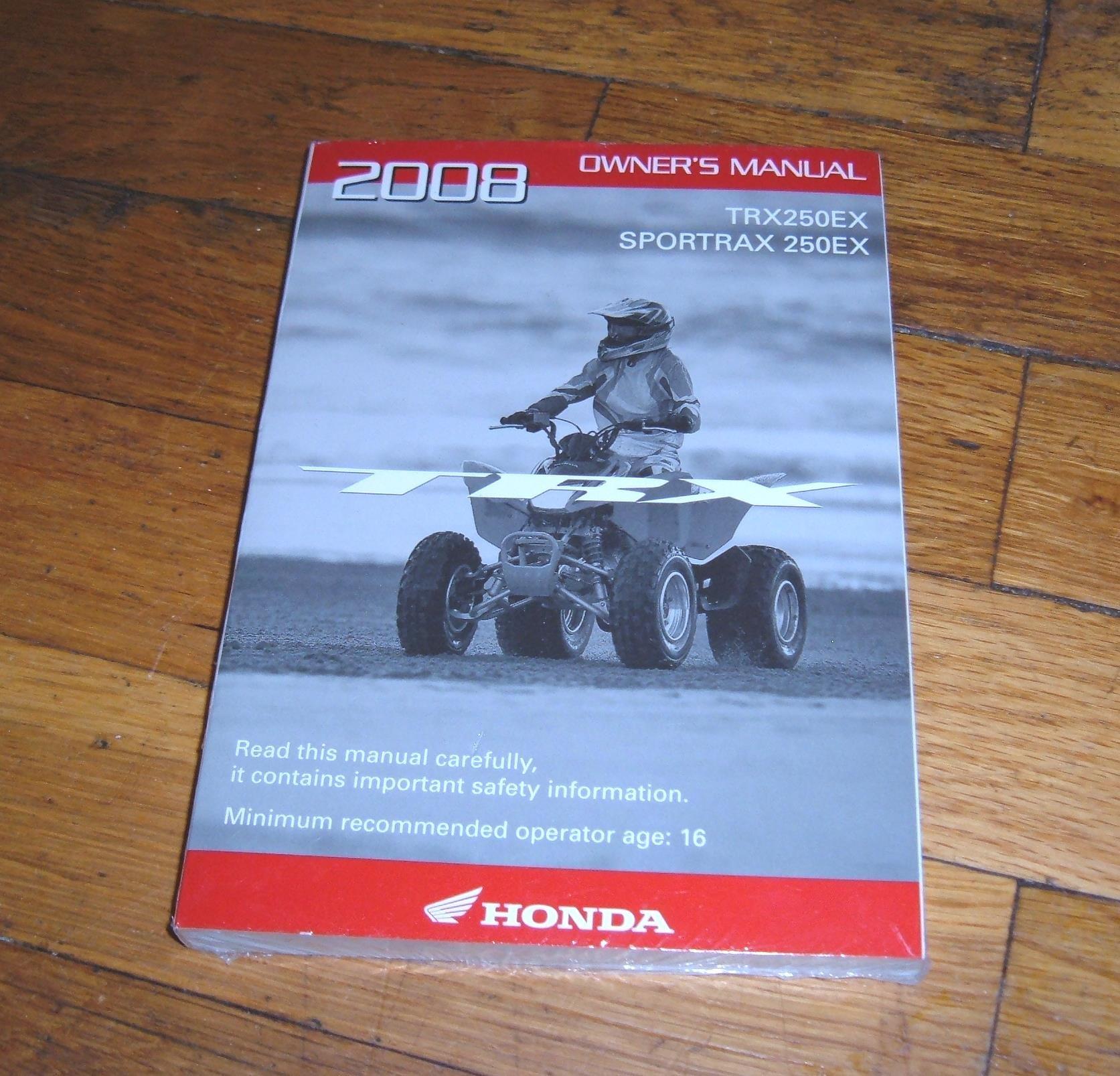 Honda Owner's Manual Sportrax 250EX (TRX250EX) (ATV): American Honda Motor  Co.: Amazon.com: Books