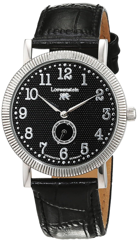 LÖwenstein Herren-Armbanduhr Analog Automatik Leder LO-T23168-194-S