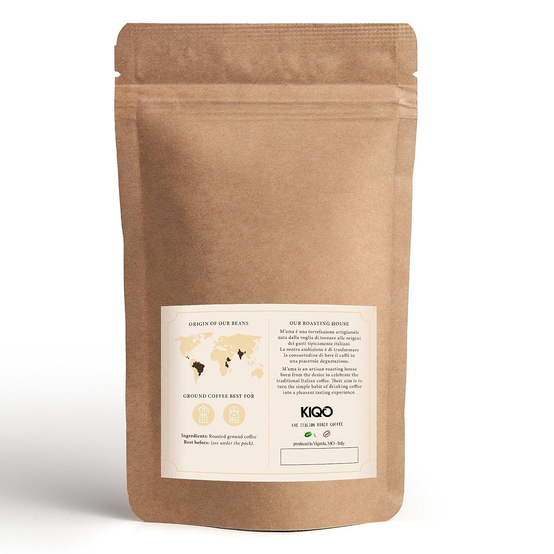 KIQO Cremoso Espresso | excelente café tostado premium de Italia | tostado suave en lotes pequeños | relativamente bajo en ácido y digerible | 15% Arábica y ...