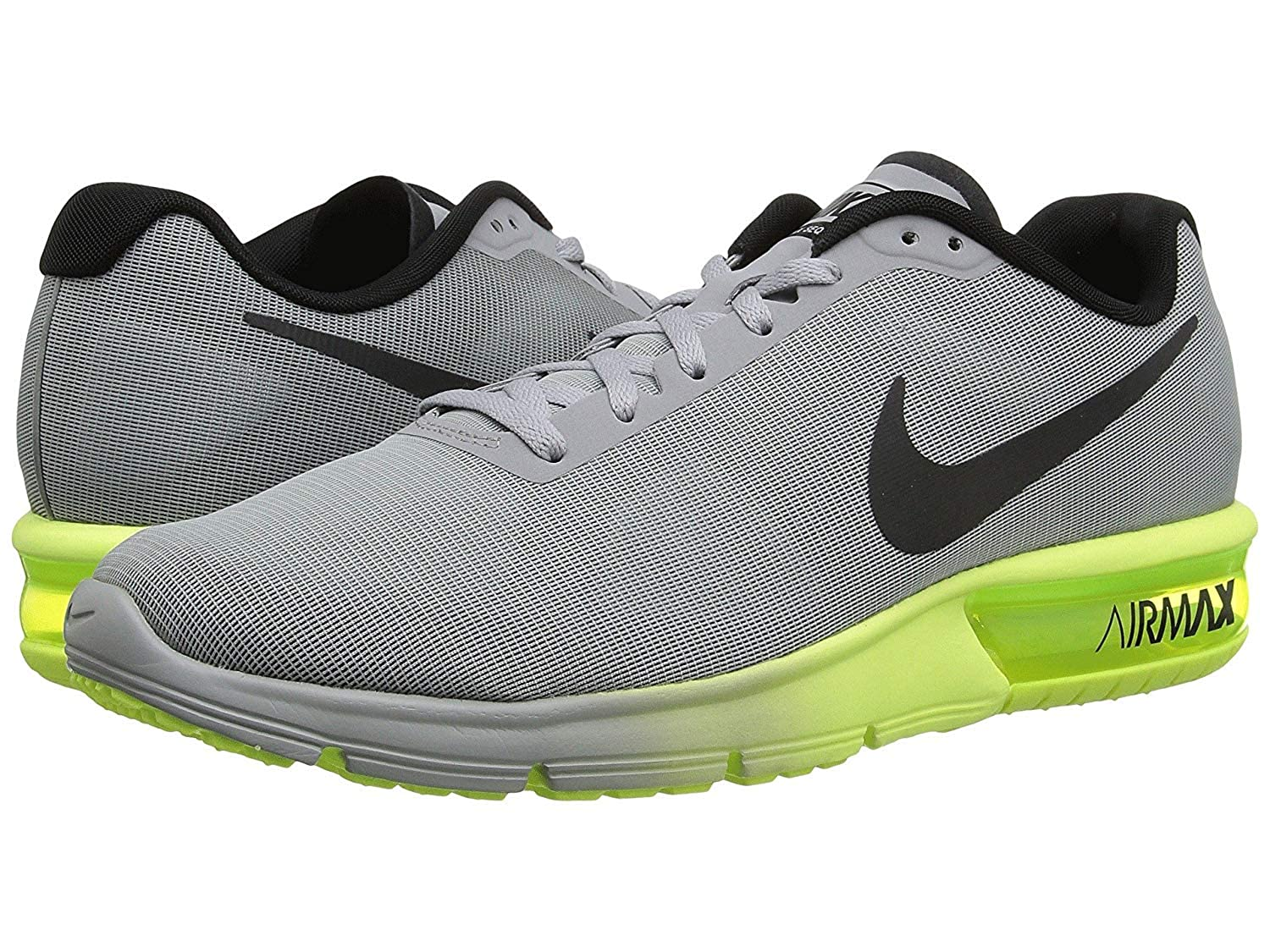 best cheap 0c7b8 e5449 Amazon.com   Nike Air Max Sequent Mens Wolf Grey Black Volt Running  Sneakers   Road Running