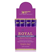 Bruno MD Royal Collagen Peptides - Beauty from Within, Clinically Proven, Dietary Supplement, Improves Skin & The Look of Hair, Nails & Cellulite,Blended with Vitamin C (Dragon Fruit)
