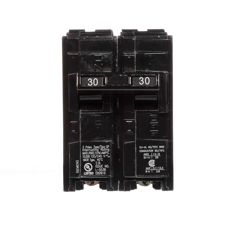 Siemens Q230u 30 Amp 2 Pole 240 Volt Circuit Breaker Generator Hookup To 220 Fuse Subpanel Page Breakers Gfci