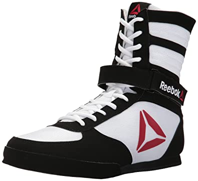 reebok boxing boots. reebok men\u0027s boxing boot-buck sneaker, delta-white/black, boots o