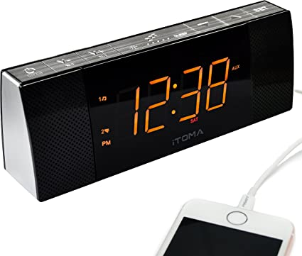 Radio Despertador iTOMA con Altavoces Bluetooth, Radio FM Digital ...