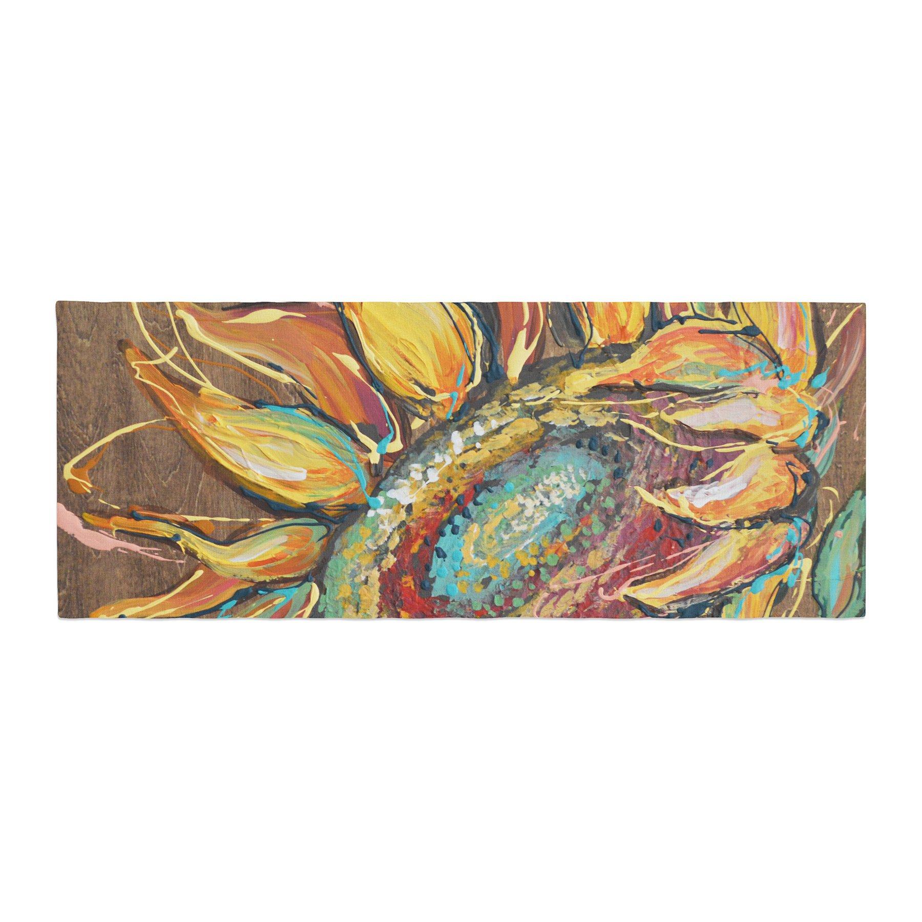 Kess InHouse Brienne Jepkema Sunflower Yellow Flower Bed Runner, 34'' x 86''