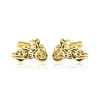 Miami Men Branded Jewellery Valentine Gifts Shirts Blaze Gold Black Oxodised Bullet Bike Harley Davidson Cufflink