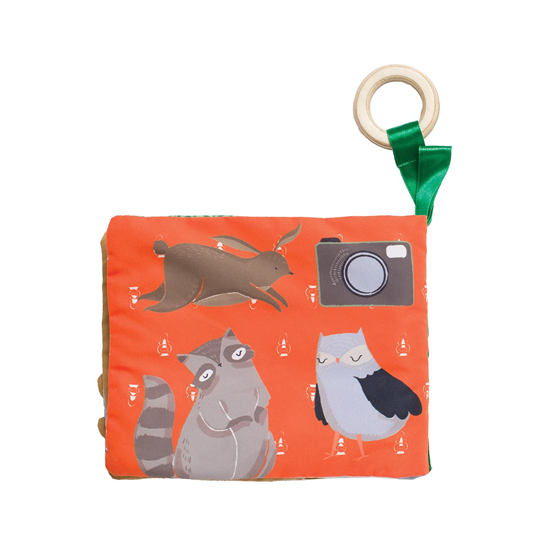 Manhattan Toy Camp Acorn Fox Snuggle Pillow Soft Plush Baby Toy