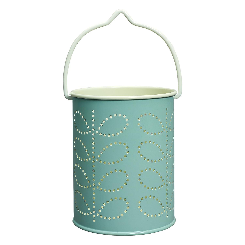 Orla Kiely Farol con diseño de tallo de líneas para velas de té–Color azul huevo de pato Wild and Wolf OK060