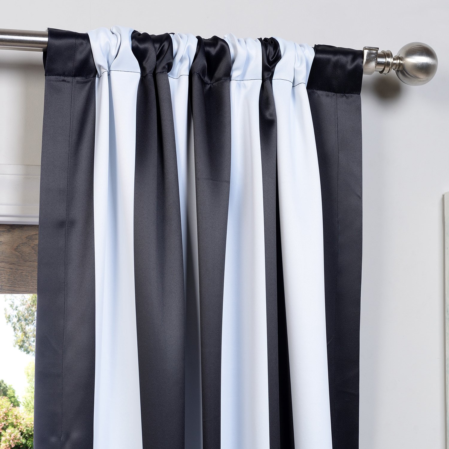 floral amp boch curtain curtains and shower navy striped blackout cream