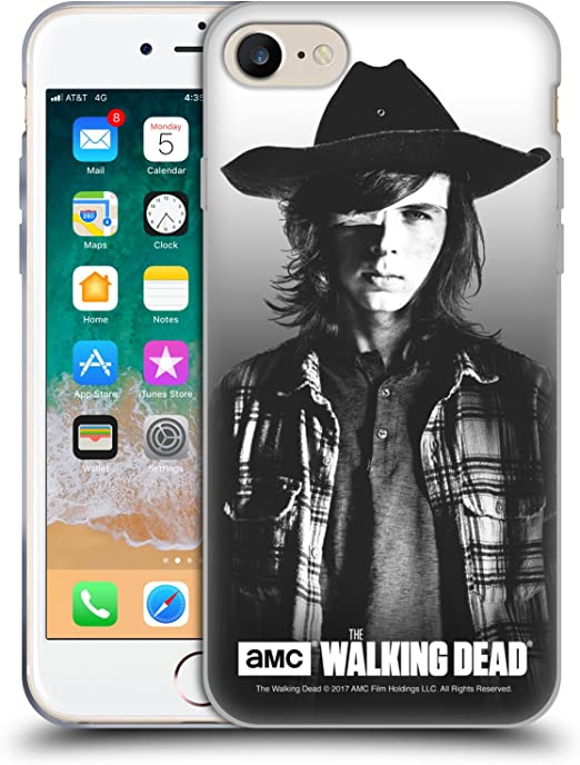 Head Case Designs Officially Licensed AMC The Walking Dead Carl Filtered Portraits Soft Gel Case Compatible with Apple iPhone 7 / iPhone 8 / iPhone SE ...