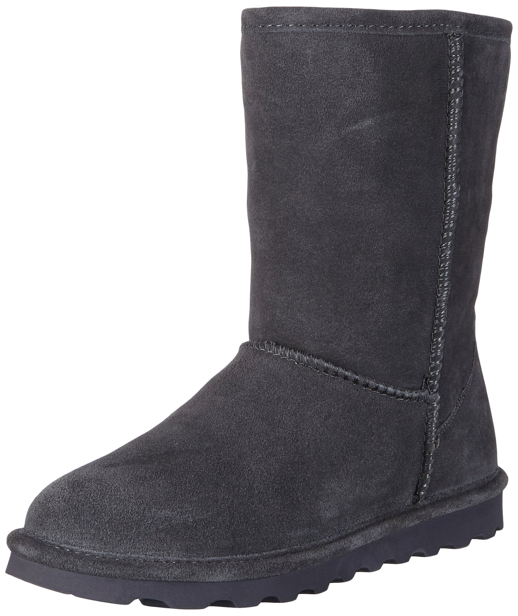 Bearpaw Elle Short Women Round Toe Suede Tan Winter Boot ,Charcoal, 9 B(M) US
