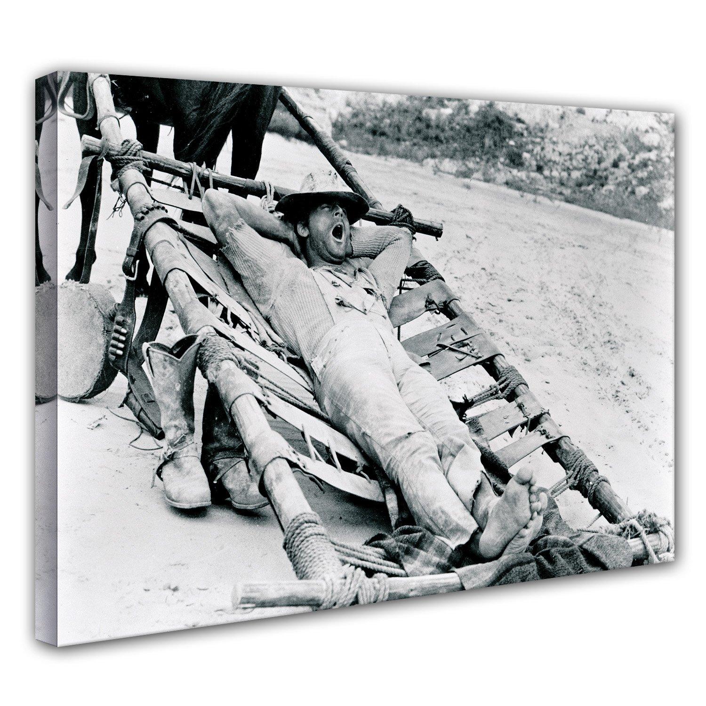 Terence Hill Bud Spencer - Die rechte und die linke Hand des Teufels - Leinwand (120 x 80 cm) s w