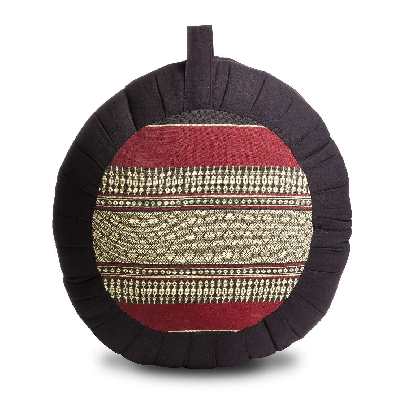 Avran Floor Zafu Pillow for Meditation and Yoga, 15 Inch Thai Style Fabric by Avran