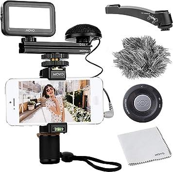 Movo Smartphone Kit de vídeo V3 con agarre Rig, omnidireccional ...