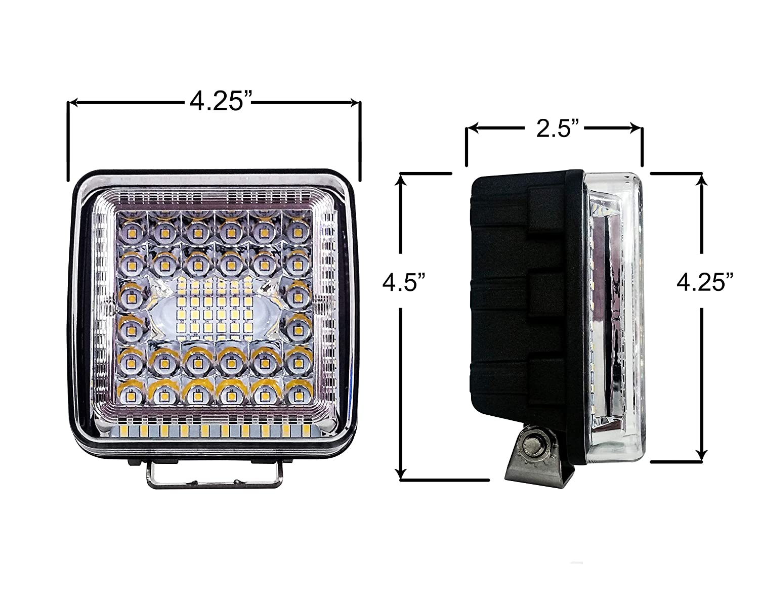 4 High Output 360/° Wide Beam Osram LED Work Light Driving Offroad Track Trailer Tractor Heavy Equipment Vehicles Combo Beam 12-32 volts