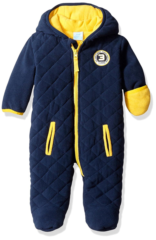 U.S. Polo Assn. Baby Boys' Sporty Bubble Pram Polar Fleece Shell Navy 3-6 Months ONU906H-09U-3/6M
