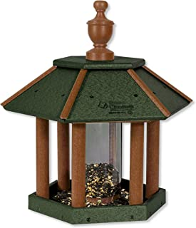 product image for Gazebo Shaped Poly Bird Feeder (Turf Green & Cedar)