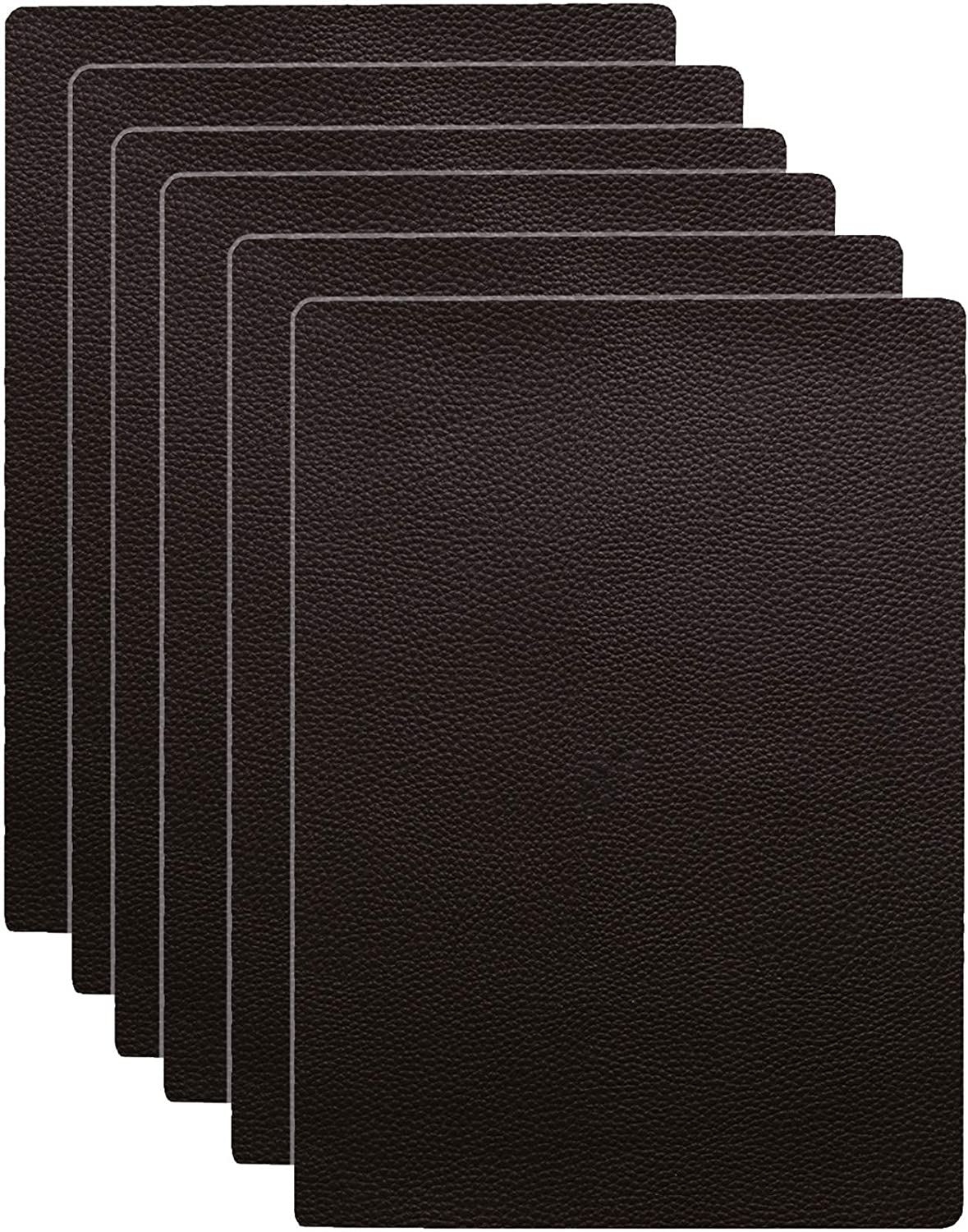 Nicunom 6 Pack PU Leather Repair Patch, 11 x 8 Inch Self-Adhesive Couch Patch Leather Repair Kit for Sofas, Furnitures, Car Seats, Couch, Hand Bags, Jackets, Brown
