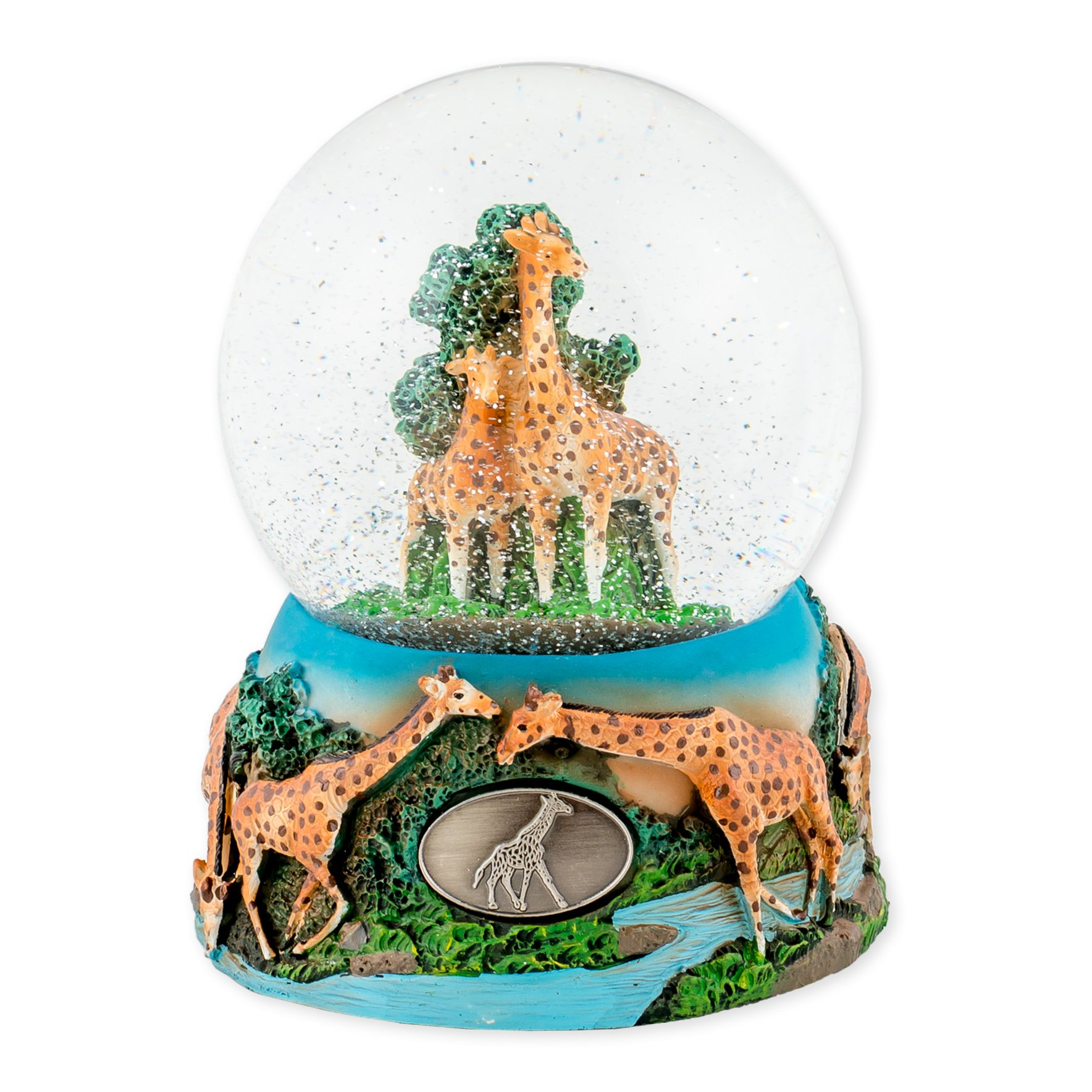 Wandering Giraffes 100mm Resin Glitter Water Globe Plays Tune Let Me Call You Sweetheart