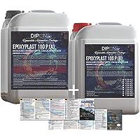 KandyDip Dipon 2K Epoxyhars, 3 kg, glasheldere lamineerhars, UV-stabiel, voor GFK, tafels, vloeren, terra aquarium…