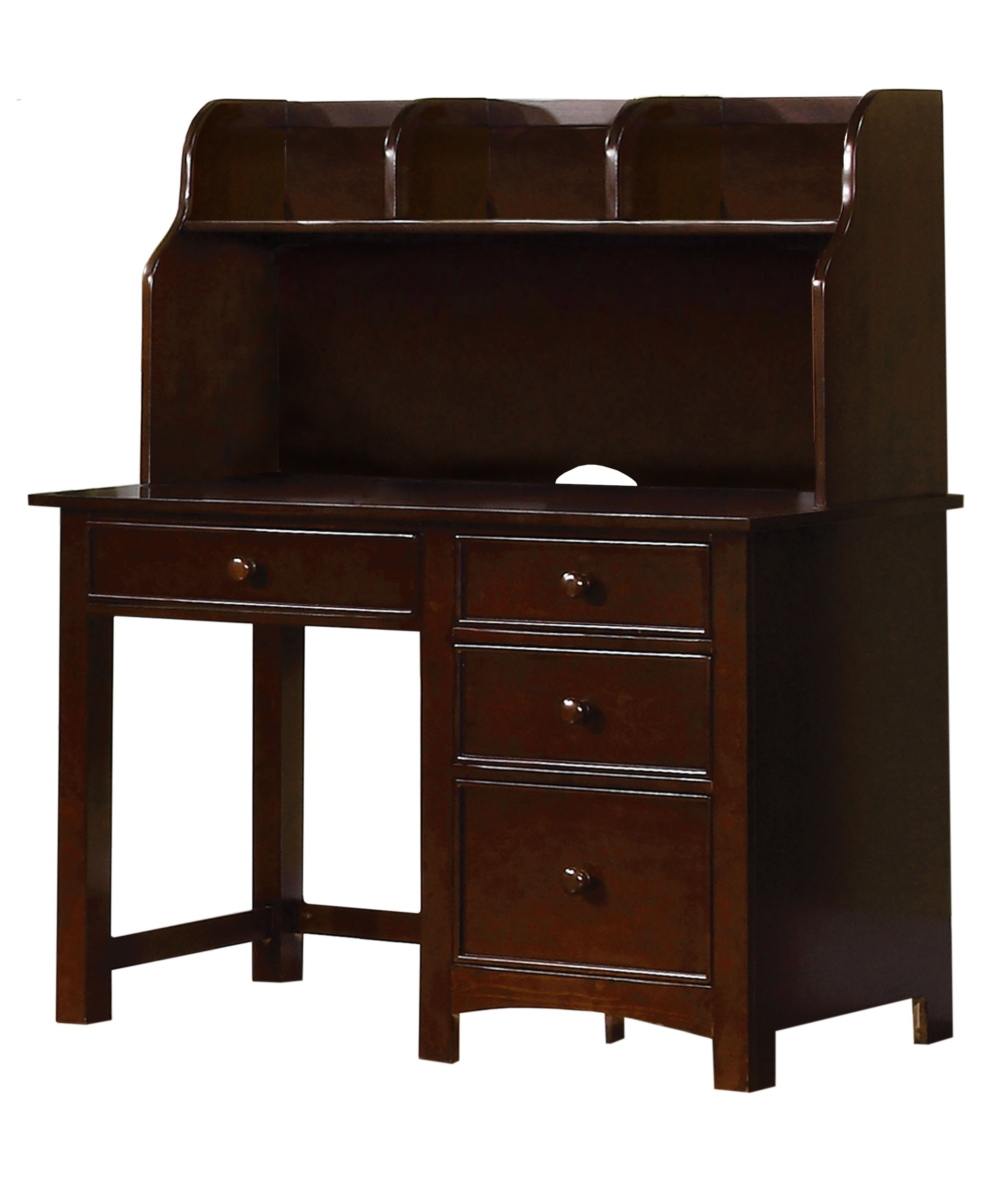 Furniture of America Alaia Dark Walnut 2-Piece Desk and Hutch Set by Furniture of America