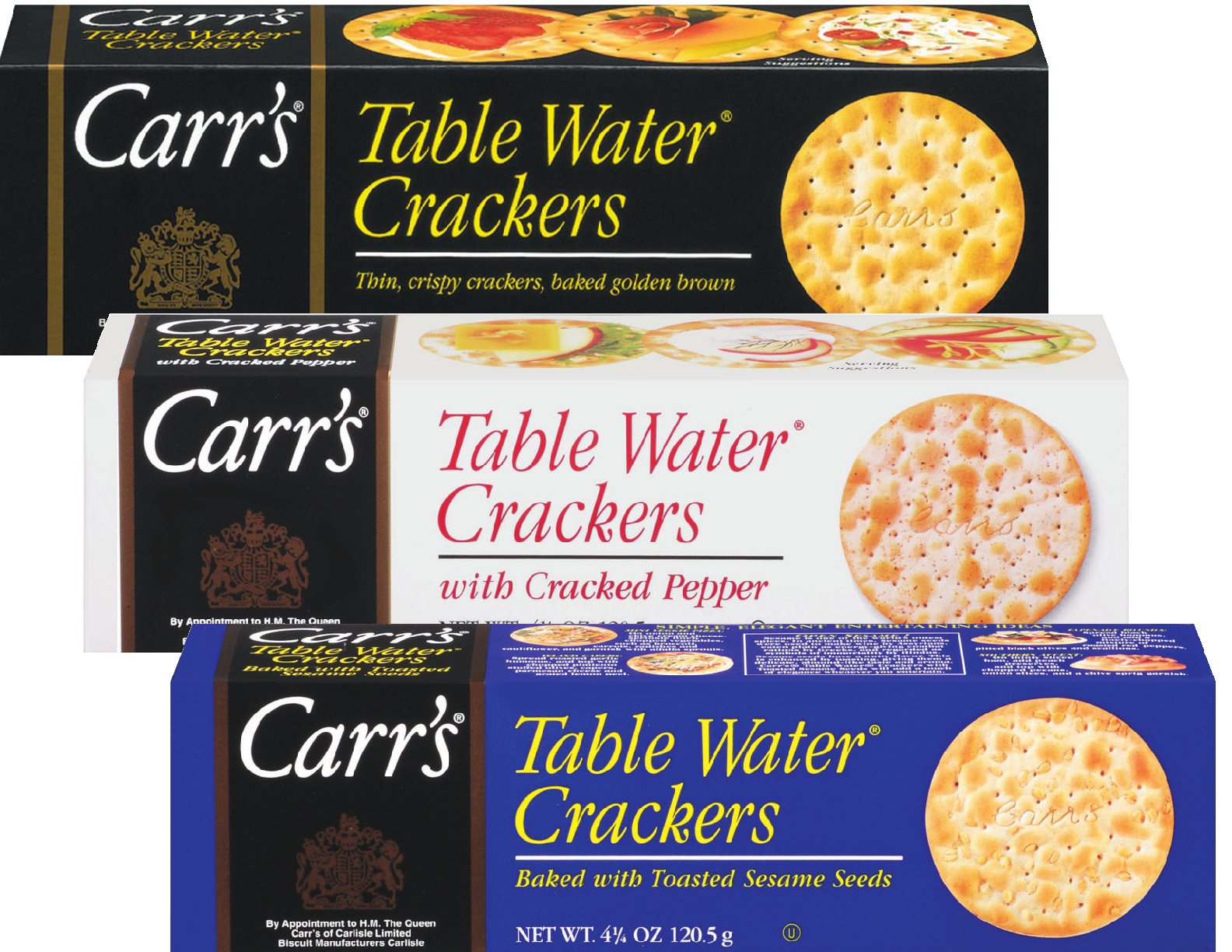 Carr's Table Water Cracker Selection, 25.5 Ounce by Carr's