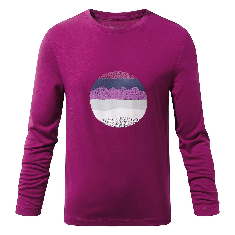 Craghoppers niños Erna Camiseta de de de Manga Larga, Infantil, Color Forest Teal, tamaño Talla 5-6 2db7cb